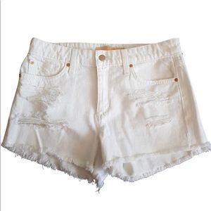 JOES JEANS DISTRESSED WHITE CUTOFFS SZ 28